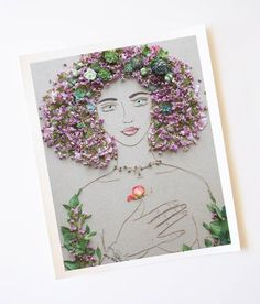 "Sister Golden | ""You Are Enough"" Flower Face Print – Print of original flower faces by Vicki Rawlins."