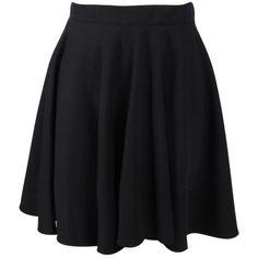 Boohoo Jess Basic Scuba Skater Skirt ($9) ❤ liked on Polyvore featuring skirts, skater skirt, flared mini skirt, midi skirt, pleated maxi skirt and mini skirt