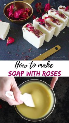 This luxurious soap with roses will pamper your skin, leave it smooth and moisturized. Enhanced with rose-infused oil, rose essential oil and rose petals this homemade soap is unique in its healing and relaxing effect on the skin. #herbalism, #herbalhealth, #naturalremedies, #skincareremedies, #herbaldiy #rosesoap #homemadesoap Soap Making Recipes, Soap Recipes, Skin Care Remedies, Natural Remedies, Diy Beauty Tutorials, How To Make Rose, Vegan Recipes Plant Based, Natural Beauty Recipes, Rose Soap