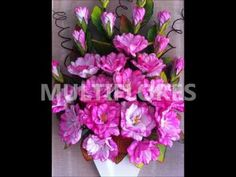 Curso de flores en goma eva de MULTIFLORES - YouTube
