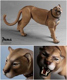 "Pet Doll - ""Puma"" February 11 ~ March 06 Puma is cast in tan skin resin Art Jouet, Cute Fantasy Creatures, Mystical Animals, Animal Action, Doll Tutorial, Clay Animals, Doll Repaint, Custom Dolls, Bjd Dolls"