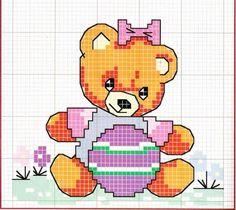 O que você procura? Canvas Patterns, Beading Patterns, Cross Stitch Patterns, Baby Sheets, Baby Kind, Cross Stitch Flowers, Cross Stitch Charts, Cross Stitching, Winnie The Pooh