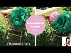 Cómo hacer pompones de papel | ClariManitas
