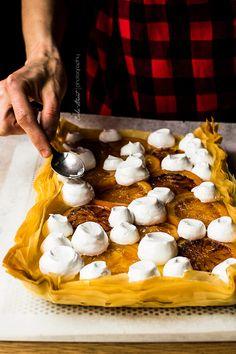 lemon curd and blood orange tart with meringue