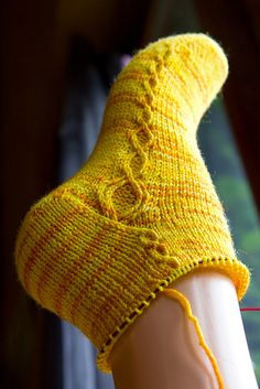 A perfect example of how a sock pattern can be simple without being boring. Also, knit toe-up!