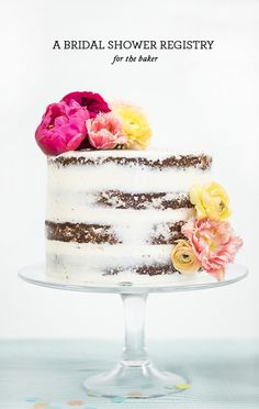Just thetime to perfect your skills in the cake department. We wanted to share this super quick video we made for our bridal shower inspirationshoot with Crate and Barrel. Watch below to see how to frost and fill the perfect  #nakedcake …