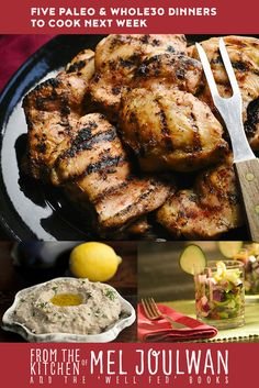 Delicious, easy paleo and recipes including Caesar Salad with Grilled Chicken, Egg Foo Yong, and Mexican Meatza. Chicken Thights Recipes, Chicken Recipes, Paleo Whole 30, Whole 30 Recipes, Grilling Recipes, Paleo Recipes, Paleo Food, Grilled Chicken Thighs Boneless, Vietnamese Chicken Salad
