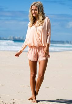 Mesh Shell V Neck Shirt in Pink. Lovely and fun for vacation