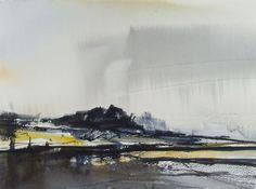 RAIN POINT, Devon, June 2016. Original Watercolour Landscape Painting. Artist Tim Taylor, Etsy.