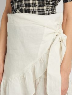 Click here to buy Isabel Marant Étoile Dempster ruffled mini skirt at MATCHESFASHION.COM