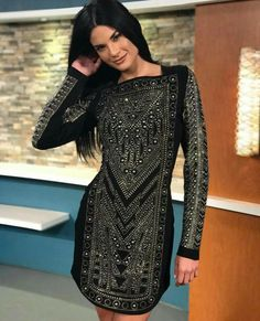 Black dress with rhinestones