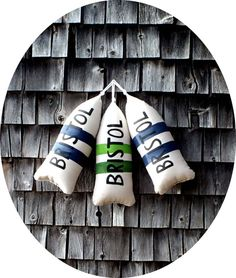 So cute for a nautical theme room!!  Maine Lobster Buoy Pillow. Buoy. Buoy pillow.housewarming gift.nautical wedding pillow.Beach house gift. maine toss pillow.beach pillow.