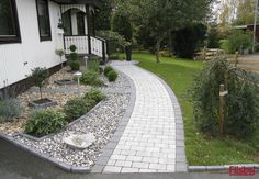 Torgsten grå & grafit & sv/vit sjösten Though ancient in principle, the actual pergola Landscape Design, Garden Design, Paver Designs, Front Walkway, Garden Inspiration, Backyard Landscaping, Container Gardening, Outdoor Gardens, Eco Friendly