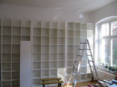 ikea expedit diy built-in shelves