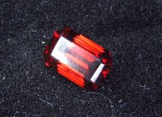 2.66 ct Natural Untreated Tanzania Red Zircon Gemstone Emerald Faceted 8.5x5.5mm #JewelsRoughGems