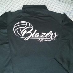 PIV Custom designed logo for new volleyball team.  Applied to team warm-ups. Good Luck on a Great Season Blazers! !