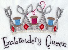 Embroidery Queen design (D3723) from www.Emblibrary.com