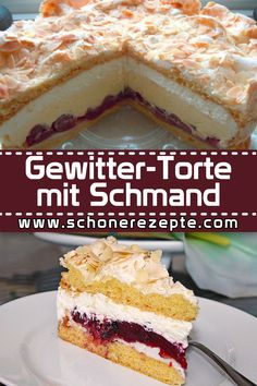 Thunder Cake with Schmand Recipe - Quick and Easy Re .- Gewitter-Torte mit Schmand Rezept – Schnelle und Einfache Rezepte Thunder cake with sour cream Recipe – Quick and easy recipes # simple # storm cake # sour cream - Berry Smoothie Recipe, Easy Smoothie Recipes, Easy Cake Recipes, Cupcake Recipes, Cookie Recipes, Snack Recipes, Dessert Recipes, Lemon Desserts, Healthy Smoothies