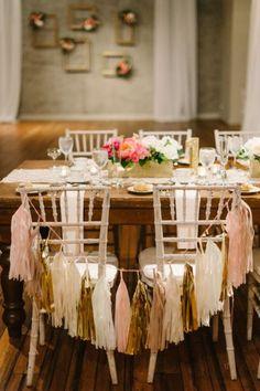29 ideias LINDAS para decorar as cadeiras do casamento em 2016 Image: 9