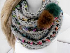 Hey, I found this really awesome Etsy listing at https://www.etsy.com/listing/209414715/colorful-infinity-scarf-angora-scarf