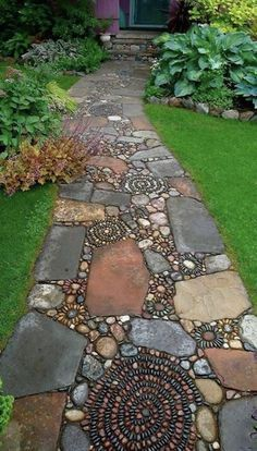 Beautiful  mosaic walkway would be perfect for my house!!