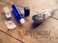 Sacred Smudge Herbal Body Oil Recipe