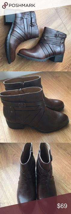 BNIB Brown Booties These boots are gorgeous! Barand new! Never worn! Still in box! Avenue Shoes Ankle Boots & Booties