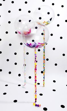 Balloons are on trend if they're round! If they're clear with confetti to match your party theme then even better! Circle Garland, A Little Party, Party Entertainment, Balloon Decorations, Balloon Ideas, Diy Party, Party Ideas, Party Planning, First Birthdays