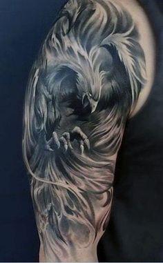 Tätowieren Source by lexyace Phoenix Tattoo Sleeve, Phoenix Tattoo Men, Phoenix Tattoo Design, Sleeve Tattoos, Badass Tattoos, Body Art Tattoos, New Tattoos, Tattoos For Guys, Cool Tattoos