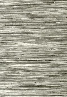 Thibaut Wallpaper: Jindo Grass in Charcoal on Metallic Silver from the Faux Resource Collection