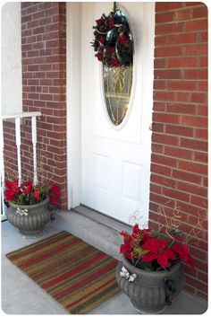 Ways to Save Money on Decorating for Christmas. Learn how to decorate your front porch like this for around $20!