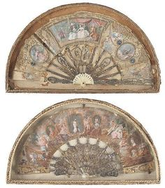 Two Victorian Hand Painted Fans