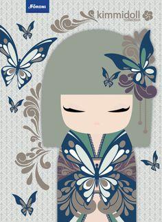 "✿ Kimmidoll Illustration ~ ""Yumeko"" 'Dream Child' ✿ ""My spirit is hopeful and… Momiji Doll, Kokeshi Dolls, Asian Tattoos, Asian Doll, Thinking Day, Arte Popular, Cross Paintings, Japan Art, Cute Images"