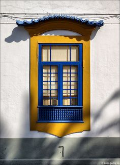 Blue and Yellow Window