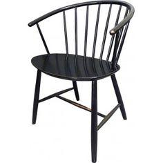 Elm armchair with slats, Ejvind A. JOHANSSON - 1960s