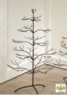 "A brand new display tree with a beautiful natural mahogany finish! Ornament Trees - Brown Natural 36"""