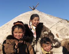 A camp of Chukchi reindeer breeders from the town of Kanchalan in the Chukotka Autonomous Area