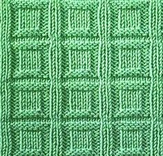 Knitting Galore: Sturday Stitch: Square Buttons