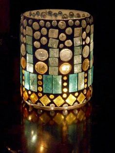 Lantern hurricane lamp stained glass mosaic by CatsMeowArt on Etsy Mosaic Bottles, Mosaic Vase, Mirror Mosaic, Stained Glass Lamps, Mosaic Crafts, Mosaic Designs, Glass Candle Holders, China Porcelain, Firs