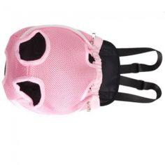 Pink Pet Dog Carrier Backpack Net Nylon M-size