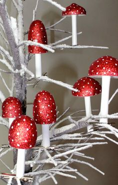 Toadstool Christmas Decorations
