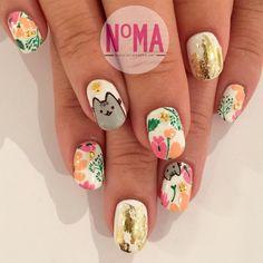 "N°MA on Instagram: ""Peekaboo! @pusheen nails for Emma! Thank you @karinhsu for the referral ;) #nailgameonpoint #sparklesf #styleseat #styleseatsf #sfnoma #nailartist #bayareanails #sanfrancisconailart #sanfrancisconails #sanfrancisco #handpainted #gelnails #nailart #nailgasm #notd #nailswag #prestogel #youngnails #revelnail #sculpturednails"""