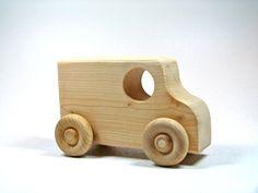 Children's Wooden Toy Car by littlewoodenwonders on Etsy, $6,00