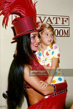Cher and daughter, Chastity, attend the Ringling Brothers Circus, 1974.