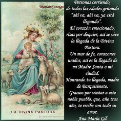 A LA DIVINA PASTORA   Patrona de Barquisimeto, Venezuela   Por la restauración de la Familia     María Divina Pastora de almas, fuente ...