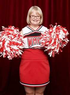 i admire Lauren Potter (from glee) because she shows that just because shes has down syndrome does not mean she cant be what other people can be with out down syndrome.... she is trully an inpiring young person that people with or with out a disablitiy can a look up to