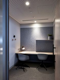Quiet room / Focus Space at Wilson Asset. An aesthetic departure from the standard client experience; a space that invites Wilson Asset Management's people and clients to a new 'home'. Management Photo by Toby Peet 2018 Office Design Concepts, Office Interior Design, Modern Interior, Corporate Interiors, Office Interiors, Commercial Design, Commercial Interiors, Small Rooms, Small Spaces