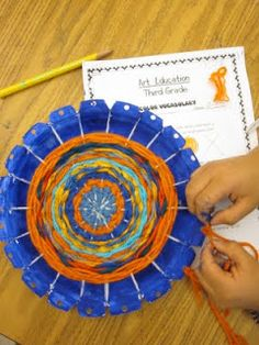 The Lake Forest Louvre: Third Grade RADIAL Weavings