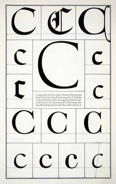 1942 Print Letter C Alphabet Print Gothic Roman Typeface Design