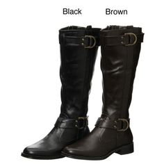 @Overstock - With secure side zippers and elegant buckle details, these Aerosoles Rideline knee-high riding boots feature flexible soles for comfort and faux leather for a classic look. Paired with your favorite fashions, these boots offer exceptional style.http://www.overstock.com/Clothing-Shoes/Aerosoles-Womens-Rideline-Knee-high-Riding-Boots/4368119/product.html?CID=214117 $49.99